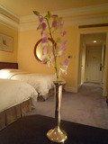お部屋に花が飾ってありました