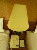 ランプ、電話、メモです