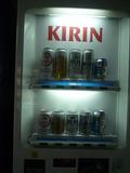 アルコールの自動販売機もあります