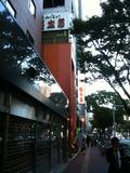 ホテル前の通り