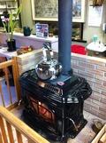 ロビーに暖炉
