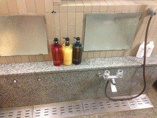 貸切風呂の洗い場