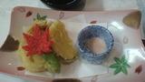 ホタテと秋野菜のてんぷら