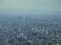 同じ建物にある展望台からの富士山