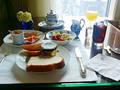 朝食も専用ラウンジで