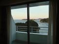 窓辺から見える島々