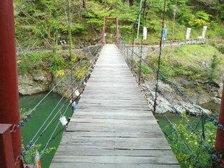 写真クチコミ:小原渓谷にかかる吊り橋