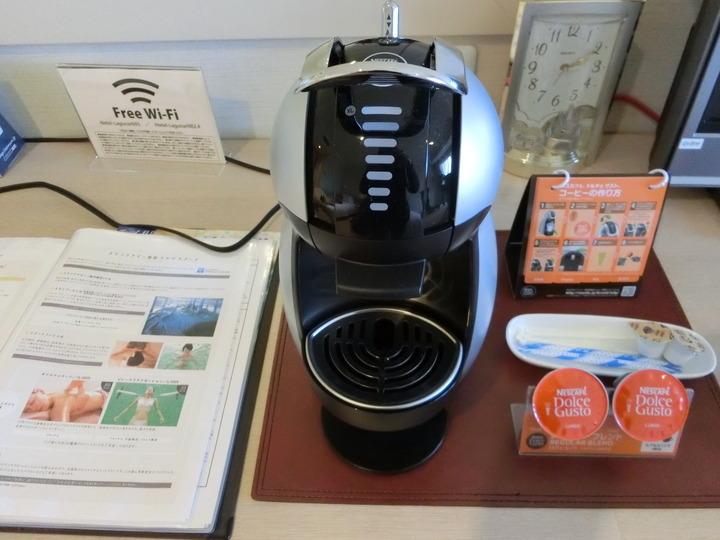 お部屋にコーヒーマシン