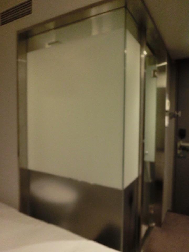 バスルームが独特のデザイン