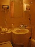 コンパクトなバスルーム。