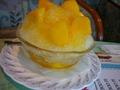 喫茶コーナーのマンゴーかき氷