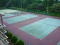 敷地内のテニスコート