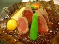 夕食の朴葉焼き