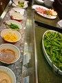 夕食バイキングのサラダコーナー