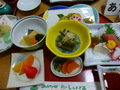 夕食はご飯と山菜が美味!