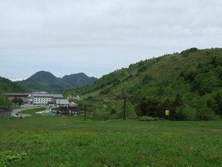 ホテル近くのスキー場