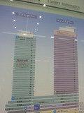 マリオットのホテルタワーの看板