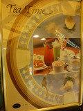 1階カフェバー・デセナーレのTEA TIMEの看板
