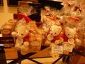 1階の特設売店の、かわいい熊付きクッキー
