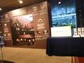1階ロビーの展示(上高地帝国ホテル)
