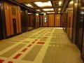 宿泊階のエレベーターホール(本館)