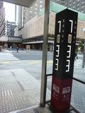 1階出入口の点字ブロック(バリアフリー)