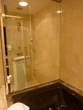 風呂からシャワーブース(透明のガラスごし)を眺めてみました