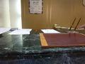 大理石が豪華なフロントデスクです