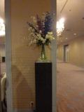 3階宴会場のお花