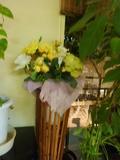 レストラン内の素敵なお花
