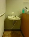 レストラン内の手洗いスペース