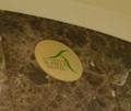 ロビーにある、ホテルのロゴ
