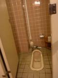 珍しい和式トイレ