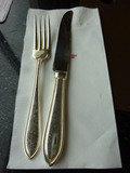 (朝食バイキング)ナイフとフォークも豪華です