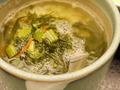 蕎麦の実入り野沢菜雑炊