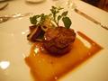 牛肉とフォワグラのポワレ