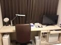 作業にもってこいなシステマチックな机。