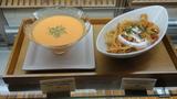 本日のパスタとスープ
