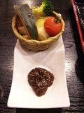 朝食の蒸し野菜かご