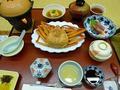 夕食蟹が美味しい!