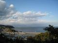 宿から見える漁村の風景