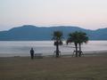 目の前に広がる千里ヶ浜海岸
