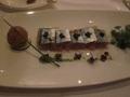 ヨットの帆の形が特徴のホテル フランス料理「アジュール」