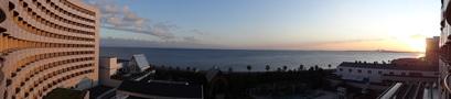部屋から東京湾が見えます