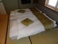 部屋のお布団です。