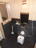 部屋のお風呂の洗い場です。