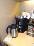 部屋に設置されているコーヒーメーカー