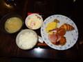朝食の食事