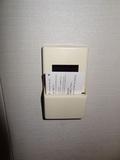 部屋の電気の使用は、ルームキーを挿すタイプ