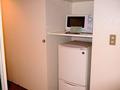 冷蔵庫と電子レンジ。
